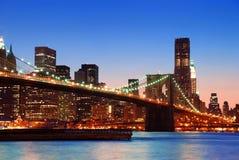 New York City Manhattan skyline Stock Images