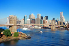 New York City Manhattan skyline Stock Photos