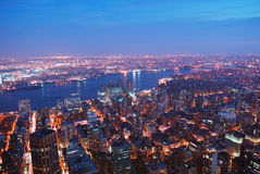 New York City Manhattan skyline Royalty Free Stock Photography