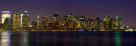 New York City Manhattan skyline Royalty Free Stock Image