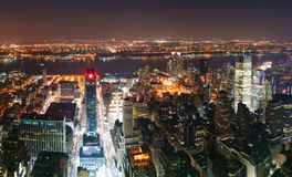 New York City Manhattan skyline aerial Royalty Free Stock Images