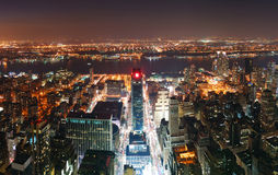 New York City Manhattan skyline aerial Royalty Free Stock Photos
