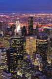 New York City Manhattan skyline aerial Stock Photo