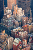 New York City Manhattan skyline aerial view Royalty Free Stock Images