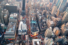 New York City Manhattan skyline aerial view Royalty Free Stock Photography