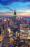 New York City Manhattan skyline aerial view Stock Photo