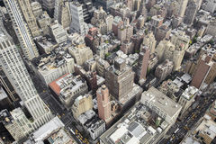 New York City Manhattan skyline aerial view Royalty Free Stock Photo
