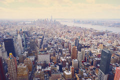 New York City Manhattan skyline aerial view Stock Image