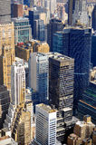 New York City Manhattan skyline aerial view Stock Images
