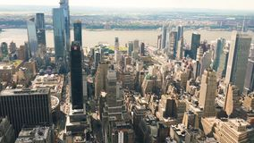 New York City, Manhattan Skyline Aerial View stock footage