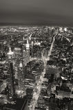 New York City Manhattan skyline black and wh Stock Photo