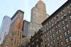 New York City Manhattan skyline. Modern buildings Royalty Free Stock Images