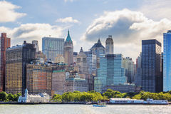 New York City with Manhattan Skyline Royalty Free Stock Photography