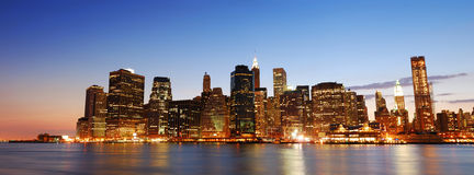 New York City Manhattan skyline panorama Stock Photo