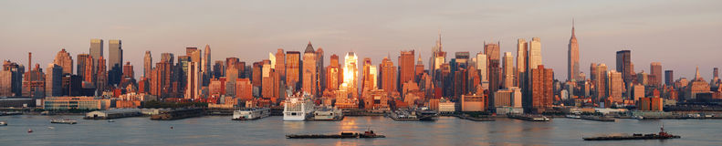 New York City Manhattan skyline panorama Royalty Free Stock Image