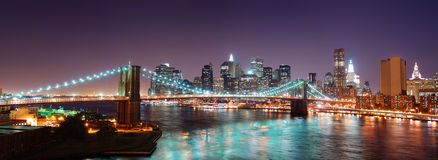 New York City Manhattan skyline panorama Stock Images