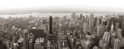 New York City Manhattan skyline panorama stock photos