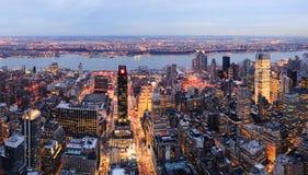 New York City Manhattan skyline panorama Stock Photo