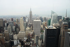 New York City Manhattan skyline panorama. With Empire State Building and skyscrapers stock photos