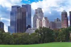 New York City Manhattan skyline panorama viewed from Central Par Royalty Free Stock Images