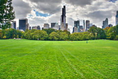 New York City Manhattan skyline panorama viewed from Central Par Royalty Free Stock Image
