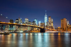 New York City -  Manhattan Skyline with skyscrapers and famous B Royalty Free Stock Image