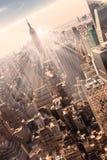 New York City Manhattan skyline in sunset. Stock Photo