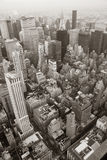 New York City Manhattan skylineblack and white Royalty Free Stock Image