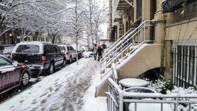 New York City Manhattan snow storm Stock Photography