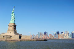 New York City Manhattan with Statue of Liberty Royalty Free Stock Image