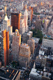 New York City Manhattan street aerial view Stock Image