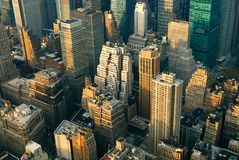 New York City Manhattan street aerial view Stock Photo