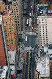 New York City Manhattan street aerial view Royalty Free Stock Images