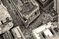 New York City Manhattan street aerial view Royalty Free Stock Image