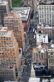 New York City Manhattan street aerial view Stock Photography