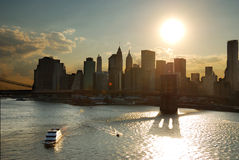 New York City Manhattan sunset Stock Image