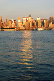 New York City Manhattan at sunset Royalty Free Stock Photography