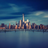 New York City - Manhattan after sunset - beautiful cityscape Royalty Free Stock Images