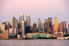New York City Manhattan sunset panorama Royalty Free Stock Photography