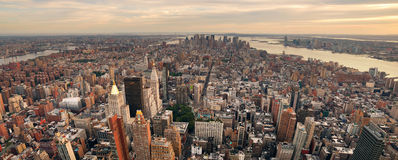 New York City Manhattan sunset skyline panorama Royalty Free Stock Photography