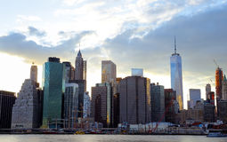 New York City Manhattan sunset skyline panorama Royalty Free Stock Image