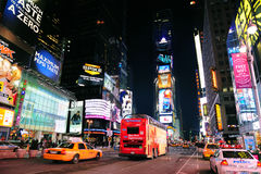 New York City Manhattan Time Square night Stock Image