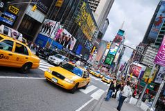 New York City Manhattan Times Square. NEW YORK CITY - SEP 5: Times Square, featured with Broadway Theaters and LED signs, is a symbol of New York City and the stock photography