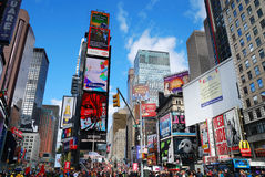 New York City Manhattan Times Square. NEW YORK CITY - SEP 5: Times Square, featured with Broadway Theaters and LED signs, is a symbol of New York City and the royalty free stock photography