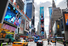 New York City Manhattan Times Square. NEW YORK CITY - SEP 5: Times Square, featured with Broadway Theaters and LED signs, is a symbol of New York City and the royalty free stock image
