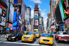 New York City Manhattan Times Square. NEW YORK CITY - SEP 5: Times Square, featured with Broadway Theaters and LED signs, is a symbol of New York City and the stock photos