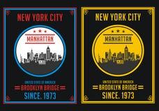 New York City Manhattan, vecteur Illustration Libre de Droits