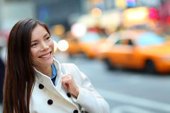 New York City Manhattan woman Stock Images