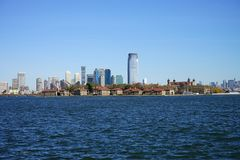 New York City Manhatten Side wirh Hudson River.  Stock Image