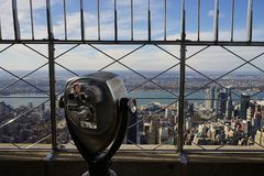New York City Manhatten USA Skyline Sky.  Royalty Free Stock Photography
